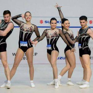 Дарина и Тихомир са в националния отбор за Световното по спортна аеробика в Баку