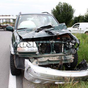 Джип се удари в излязъл на пътя камион до Бирената фабрика край Хасково