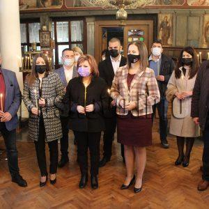 Коалиция ГЕРБ-СДС откри предизборната кампания в Хасково с водосвет за здраве и успехи
