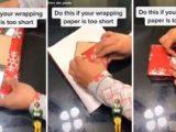 Хитър начин за опаковане, когато хартията не достига (видео)
